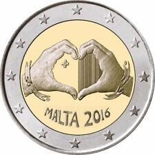 """2 euro commémorative  2016 Malte """"NEUVE UNC"""" solidarité"""