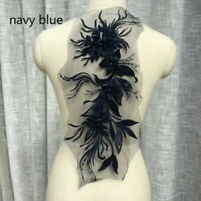 Perlenbesetzt Stickereien Blumen Spitze Netz Applikationen Patch Hochzeits Kleid