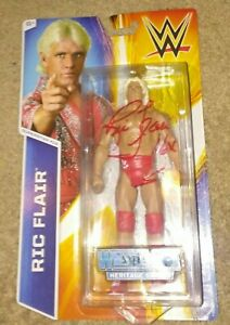 Ric Flair Signed WWE Wrestlemainia Figure WWE Hall of Famer 4 Horsemen Evolution
