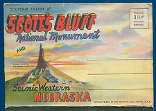 Scott's Bluff in Western Nebraska North Platte River postcard folder