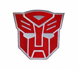 Transformers Red Autobot Movie 7.7cm×7.5 cm Iron-on or Sew-on Embroidered Patch