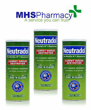 3 X SUPER FRESH NEUTRADOL  Carpet Deodorizer powder- PET/TOBACCO /ODOURS