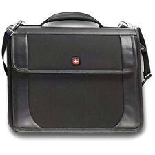 Swiss Wenger Centra Compact Business Office Work Shoulder Messenger Bag Black