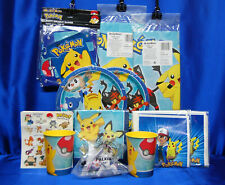 Pokemon Party Set # 19 Pikuchu Plates Napkins Tablecover Invites/Thanks Banner