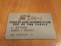 Vintage Royal Coach Motor Hotels coach and horses club top of castle club card