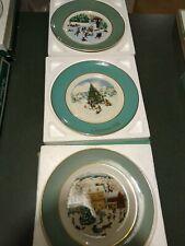 Vintage lot 1975-78-80 Avon Christmas Collector Plates ~ w- boxes Vgc