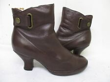 Clark's Indigo Brown Leather Zip Ankle Boots Womens Size 7 M Style 83369