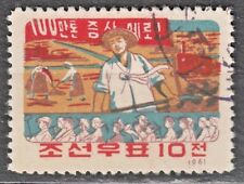 KOREA 1961 used SC#340  10ch  stamp, Farming.
