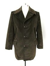 Minty Vtg 70s Sears Country Green Corduroy Stadium Clicker Coat Blanket Lined 38