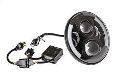 Hauptscheinwerfer LED Scheinwerfer Schwarz 7 Zoll mit TÜV für Jeep Mercedes Ford