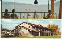 "Lakeport CA ""Skylark Motel & Seaplane Base, Clear Lake"" Postcard California"