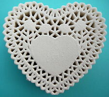 Paper Doilies White Heart 15.5cm Pk 20 Great for Cardmaking Crafts Catering etc