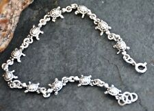 Charming Childs 925 Solid Sterling Silver Tortoise Bracelet