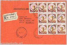 57155 - ITALIA REPUBBLICA - STORIA POSTALE: CASTELLI su  BUSTA RACCOMANDATA 1981