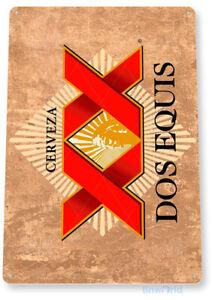 TIN SIGN Dos Equis Beer Metal Décor Wall Art Store Shop Bar Pub A332
