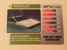 The Spy Who Loved Me Lotus Esprit #12 Vehicles - 007 James Bond Spy Files Card