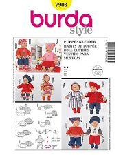 Burda Schnittmuster 7903 Puppenkleider Vestido Para Muñeca Gr. 40 -45 Cm