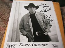 Kenny Chesney Autographed 8X10 SIGNED IN 1998?