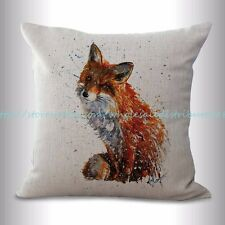 US SELLER, fox animal cushion cover decorative bedroom pillow cover