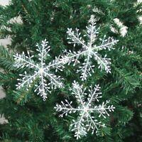 30x Flocons de Neige Noël Arbre Ornement Suspendu Décor Bricolage Maison
