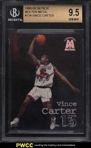 1998 Skybox Molten Metal Vince Carter ROOKIE RC #134 BGS 9.5 GEM MINT