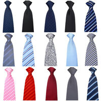 Men Business 8cm Wide Zipper Pre-tied Tie Party Wedding Floral Striped Necktie