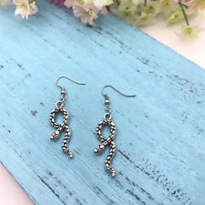 Snake Earrings Reptile Exotic Earrings Snakes Charm Jewelry Herpetologist Gift