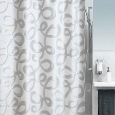 Spirella Fiocco Silber Textil Duschvorhang 240 x 180 cm. Markenware Schweiz
