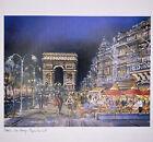 Paris Krisarts Les Champs Elysées La Nuit Print French Artist Maurice Legendre
