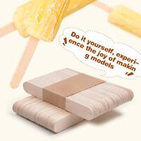 50Pcs Ice Cream Stick Cake Craft Wooden Popsicle Stick Timber DIY Stick Lot