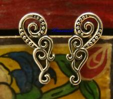 """Silberohstecker 925 /""""Spirals/"""" mit feinen Linien keltisch"""
