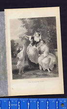 Victorian Ladies, Flowers & Summer Time - by Midy -1879 Engraved Print