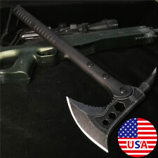 """15.35"""" Survival Tomahawk Tactical Throwing FIXED BLADE Hatchet Hunting AXE Knife"""