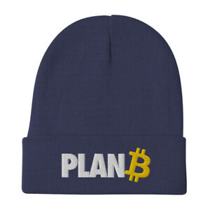 Bitcoin Plan B Beanie crypto investor trader embroidery winter autumn fall hat