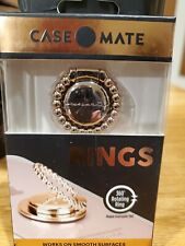 Case-Mate•Shiny Gold Ring•Round Ball Texture•Phone Holder•360* Rotating Ring