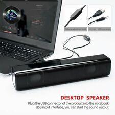 Desktop Soundbar Wired Sound Bar Speaker System Subwoofer Stereo  for Laptops TV
