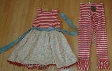 NWT Matilda Jane platinum vault candy cane leggings Acacia roundabout tank dress