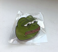 Sad Pepe The Frog Enamel Lapel Pin - 4chan Kek Dank Meme Badge Button