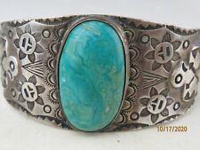Antique Sterling Silver Native American Navajo natural Turquoise bracelet