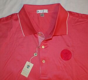 NWT PETER MILLAR The Chattooga Club NC Coral Pink POLO GOLF SHIRT Mens XL