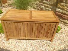 Auflagenbox Teak 125cm offen Gartenbox Kissenbox neu Gartenmöbel Teakholz