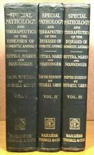 Pathology Disease Domestic Animals Veterinary Medicine Medical Book 3 Volume Set