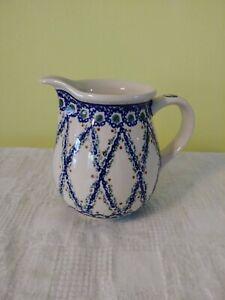 POLISH POTTERY 24oz / 3 cups PITCHER, Brand new