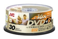 30 x JVC DVD+R Recordable Blank Single Write Disk DVD 30 Pack Spindle VP-R47GU30