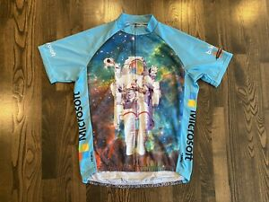 Men's Primal MICROSOFT Astronaut NASA Short Sleeve Cycling Jersey Size Large L