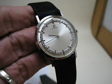 OMEGA SUPPER THIN 14K SOLID WHITE GOLD 42 DIAMOND HAND-WINDING 1968 WATCH