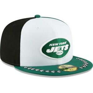 New York Jets Hat New Era 59Fifty Fitted Cap 7-1/2 State Flag Black Green White