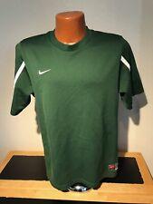 Mens Nike Dri Fit S/S Athletic Shirt Size Medium (M) Green - Polyester