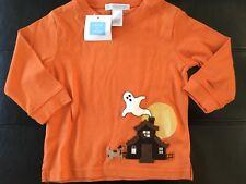 NWT Janie & Jack 6-12 months HALLOWEEN Ghost puppy dog shirt haunted house