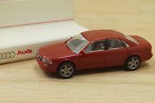 Rietze 20004 voiture Audi A8 4.2  Quattro en rouge cerise 1/87 neuf en BO PUB